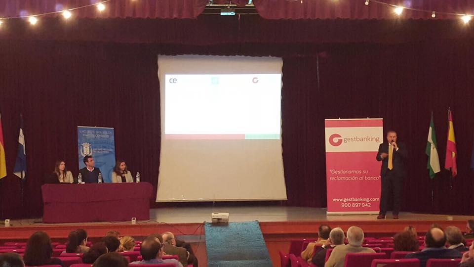 Gestbanking presente en Bollullos Par del Condado (Huelva) en charla informativa sobre cláusulas suelo y gastos de hipotecas