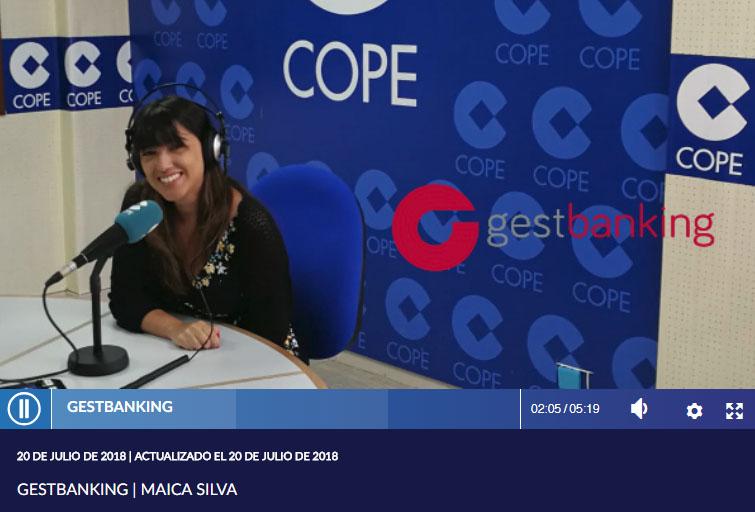 Entrevista en COPE Huelva presentando productos y servicios jurídicos de Gestbanking